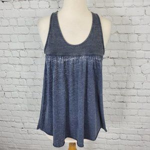 Chaser Babydoll Tank Top Gray M NWT